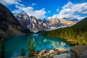 Magnfique vue du Banff National Park Alberta.