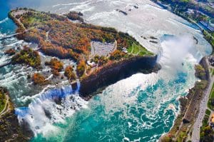 Ne tombez pas à la renverse devant les Chutes du Niagara.