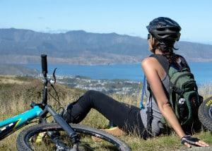 Après l'effort, la vue sur la baie de Wellington