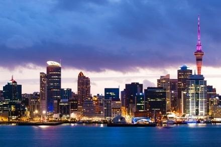 La Skyline se trouve au centre d'Auckland en Nouvelle-Zélande