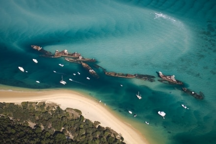 Tangalooma Wrecks se trouve à Moreton Island