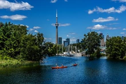 Toronto Islands au Canada, un lieu idyllique pour se promener lors d'un PVT.