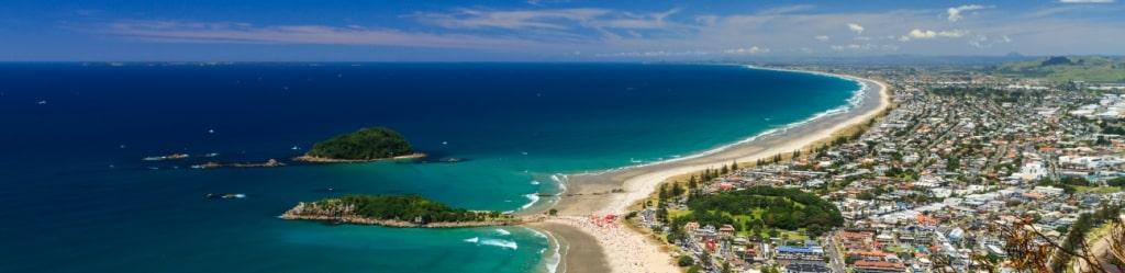 Tauranga se situe dans l'île du Nord de la Nouvelle-Zélande