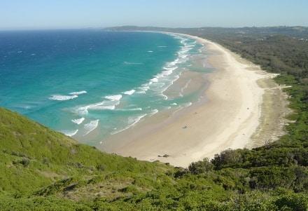 Tallows est une plage de Byron Bay en Australie